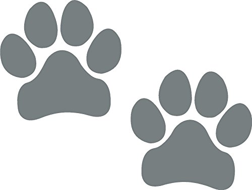 Paw Prints, SILVER, Pawprints, Paws, Dog, Puppy, Pup, Mutt, Canine, Print, Car, Auto, Wall, Locker, Laptop, Ipad, Notebook, Netbook, Vinyl, Sticker, Decal, Label, Placard, SILVER