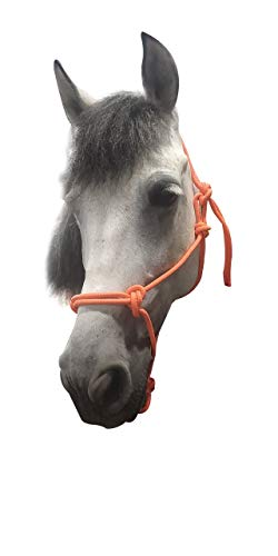 TGW RIDING Horse Poly Rope Tied Halter (Orange) ()