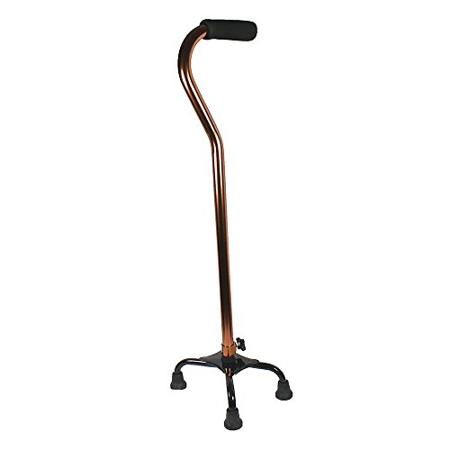 Quad cane small base bariatric 500lbs walking aid medical mobility adjustable by wewa17