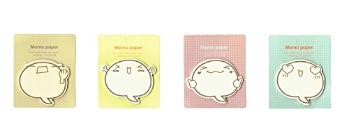 amazon com cute sticky note pads smiling expressions pack of 4
