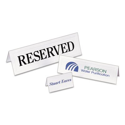 Medium Embossed Tent Cards, White, 2 1/2 x 8 1/2, 2 Cards/Sheet, 100/Box, Total 500 EA, Sold as 1 Carton