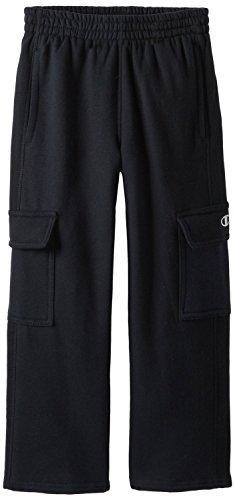 Champion Boy's Plush Cargo Fleece Pant, Black (Champion Fleece Pants)