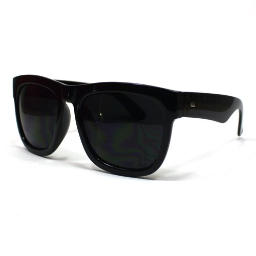 109c4e7d77 Amazon.com  Oversized Sunglasses Super Dark Lens Black Thick Horn Rim Frame   Clothing