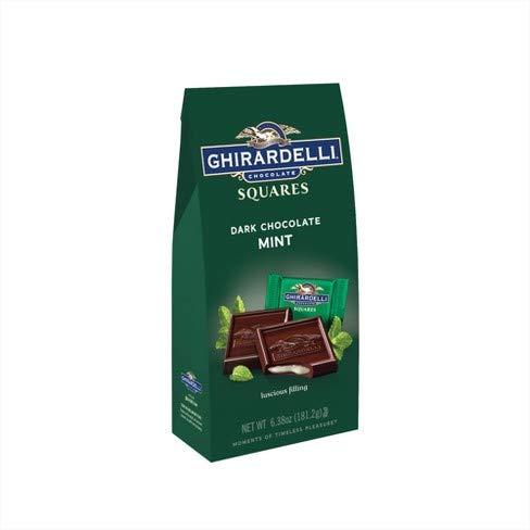 Ghirardelli Dark & Mint Filled Chocolate Squares 6.38 oz ()