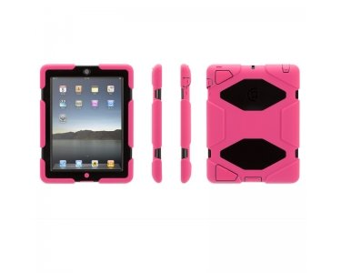 Griffin Pink/Black Survivor All-Terrain Case + Stand for iPad 2, 3, and 4th Gen - Extreme-Duty case for iPad 2 and iPad ()
