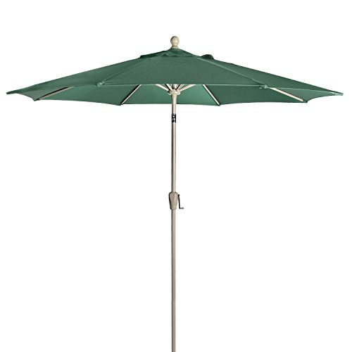 Astonica 50140705 (2) 9-ft Hunter Green Aluminum Patio Umbrella with (2) Bases