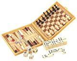 5 IN 1 Traveling GAME, CHESS,CHECKERS,BACKGAMMON,DOMINOES,POKER DICE