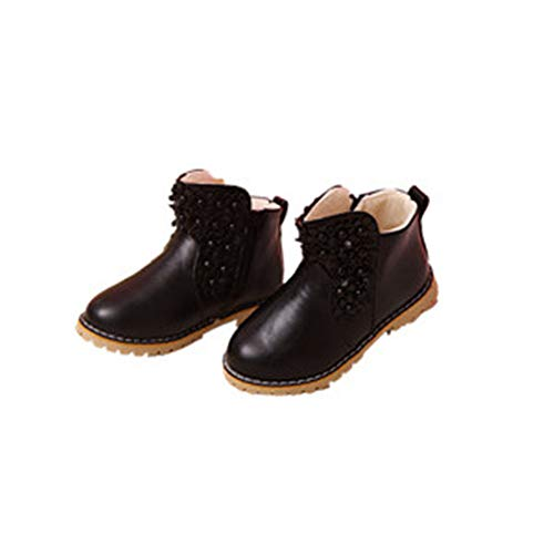- PRETTYHOMEL Girls Boots Children Princess Shoes Child Shoes Snow Boots high Boots(Black1 EU 35/3 M US Little Kid)