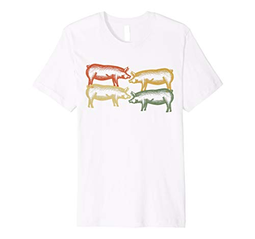 Vintage Pig Farmer Piggy Shirt For Piglet Owner Lover for $<!--$18.99-->