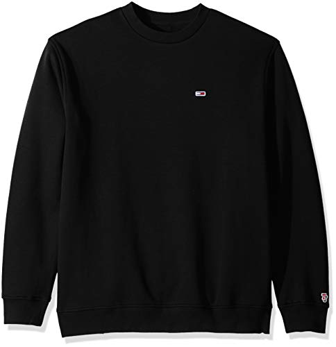 (Tommy Jeans Men's Sweatshirt Relaxed Fit Classics Collection, Tommy Black X-Large)