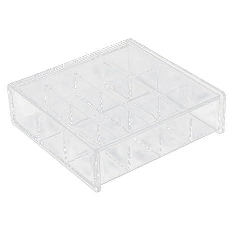 Amazon.com: eDealMax Acrílico cuadrada maquillaje joyería hogar Collar en Forma de caja Organizador Claro: Home & Kitchen