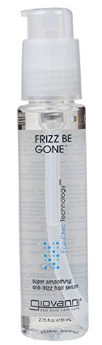 GIOVANNI COSMETICS- Eco Chic Frizz Be Gone- Super Smoothing Anti Frizz Hair Serum- 3 Pack (2.75 Fl. Ounce Bottles) - Frizz Hair Serum