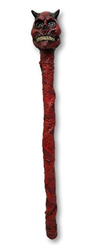 Deluxe Latex Red Devil Skull Demon Crosier Staff Halloween Prop Walking Stick for $<!--$32.99-->