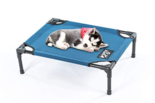 2PET Elevated Cooling Pet Bed, Pet Cot, Dog Bed with Breathable Mesh Fabric, Orthopedic, Easy Clean for Small, Medium, Large, Extra Large All Breeds and New Improved Nylon 1680D, Meshed