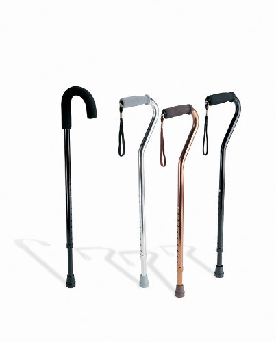Medline Standard Aluminum Cane Chrome