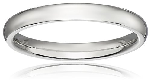 Ladies Platinum Collection - Classic Fit Platinum Band, 2mm, Size 9