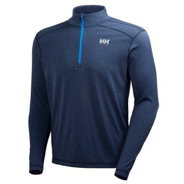 Helly Hansen Men's VTR 1/2 Zip LS, Navy, - Ls Shirt Zip 1/2