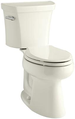 Kohler K-3999-96 Highline Comfort Height 1.28 gpf Toilet, Biscuit