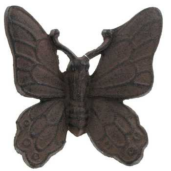 ''ABC Products'' - Heavy Cast Iron - Butterfly - Primitive Monarch Design - - Indoor or Outdoor - (Dark Bronze Finish - A Great Add-On - To Any Decor - Indoor or Outdoor)