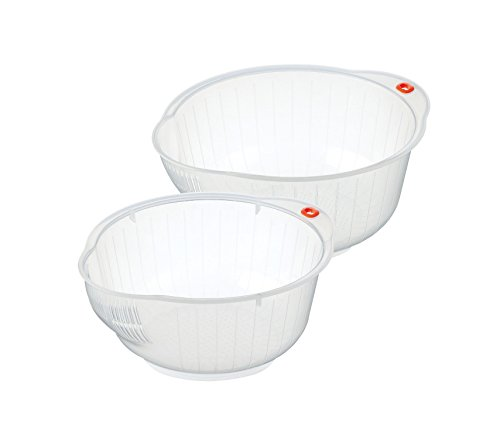 - Inomata BUN00620 Japanese Rice Washing Bowls, Set of 2, 2-Quart and 2.5 Quart