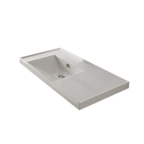 Scarabeo-3008-No-Hole-ML-Rectangular-Ceramic-Self-RimmingWall-Mounted-Bathroom-Sink-White