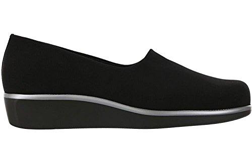 San Antonio shoe Women's SAS, Bliss Slip on Low Heel Shoes, Black, Size 7.5