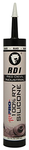 Red Devil 08166I RD PRO Industrial Grade RTV 100% Silicone Sealant, 10.1 oz, Black
