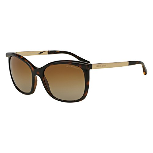 Giorgio Armani AR8069 5026T5 Polarized Gradient Brown Full Rim Sunglasses Frames in Havana