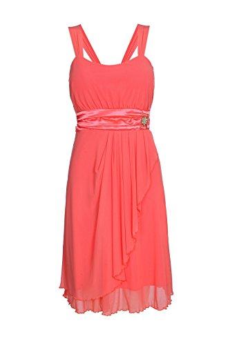 ROBLORA-Cocktail ceremonia vestido de noche vestido de dama de honor de la boda de bustier corto USBS01 Rojo