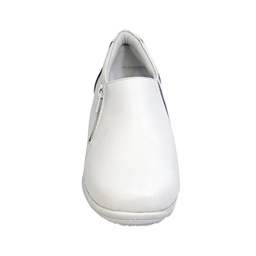 Slip White Classic Wide Trendy Loafer Ester Adjustable Width 24 On Comfort Women Simple Hour and wqB6PRA