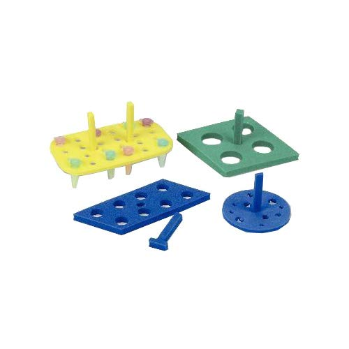 VWR 82017-630 Floating Foam Tube Rack for 15 mL Centrifuge Tube, Parallelogram Shape, 8 Place, Blue (Pack of 5) by VWR