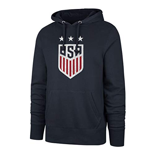 OTS World Cup Soccer U.S. Women's Soccer Team Men's Fleece Hoodie, Distressed Star Logo, XX-Large