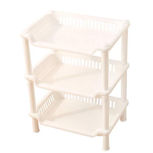 TEERFU Corner Shelf Organizer -Free Standing 3 Tier Corner Shower Shelf - Plastic Construction-Kitchen Shelf,Bathroom Organizer