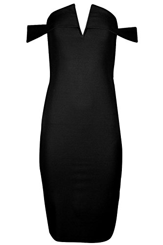 Fashion Star Damen Kleid * Schwarz HMv5n0b8NE