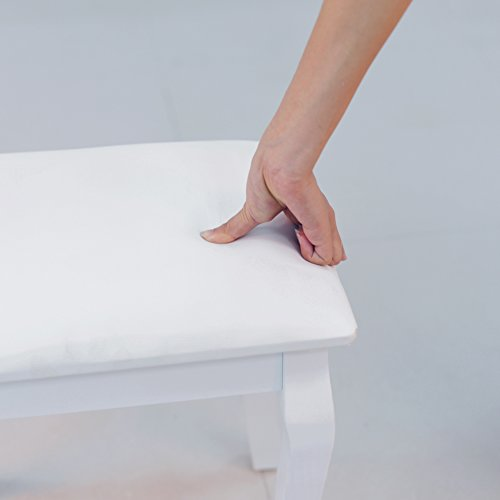 home, kitchen, furniture, bedroom furniture,  vanities, vanity benches 11 picture Organizedlife White Vanity Stool Padded Makeup Chair Bench deals