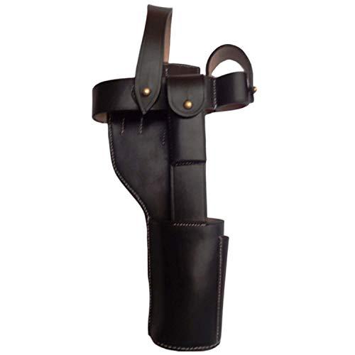 warreplica German C96 Broomhandle Mauser Holster Black - Reproduction (German Mauser Broomhandle Leather Holster And Stock)