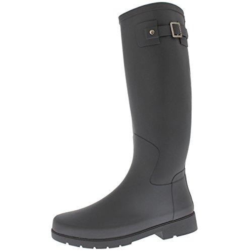 matte grey hunter rain boots - 2