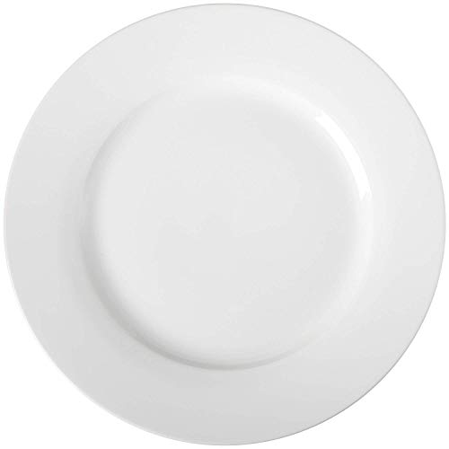 AmazonBasics 6-Piece White Dinner Plate Set from AmazonBasics