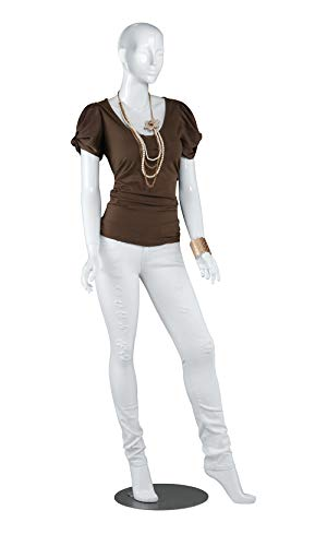 Female Glossy White Cameo Fiberglass Mannequin - Height 5'10'' - with Base by SSWBasics (Image #3)
