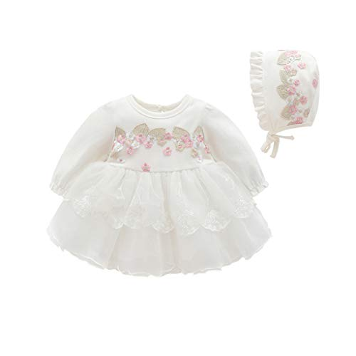 iLOOSKR Infant Baby Girls Clothes Lace Tutu Princess Dress Outfits Skirt 0-18M White