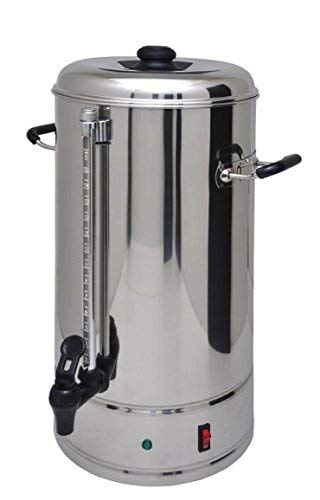 SYBO Commercial Grade Stainless Steel 15 Liters 100 Cups Coffee Maker and Hot Water Heater Urn Pot for Catering and Restaurants