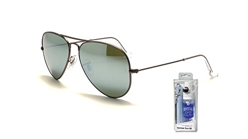 Ray Ban RB3025 029/30 58m Green Mirror Silver Aviator Sunglasses Bundle-2 - Ban Silver Mirrored Aviators Ray