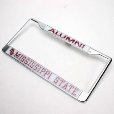 Mississippi State Bulldogs Alumni Metal License Plate Frame W/domed Insert - Alumni/miss State