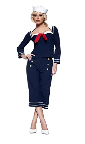 Women's Ship Mate Navy Sailor Costume Medium (Womens Ship Mate Costumes)