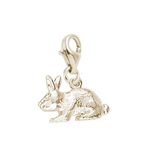 14k Gold Rabbit Charm - Rembrandt Charms Rabbit Charm with Lobster Clasp, 14k Yellow Gold