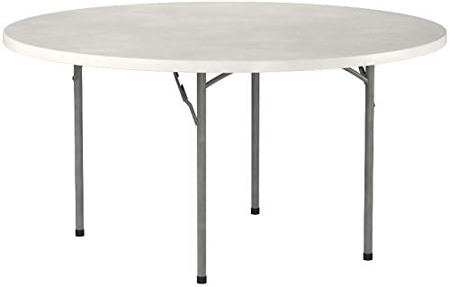 Flash Furniture Round Granite Plastic Folding Table White