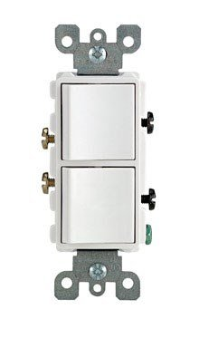 Leviton R02-5634-W Two Single-pole Switches ()