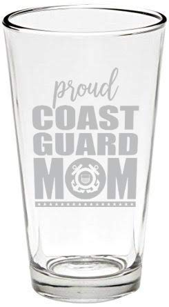 Made in USA 16 oz Proud Marine Mom Pint Beer Glass
