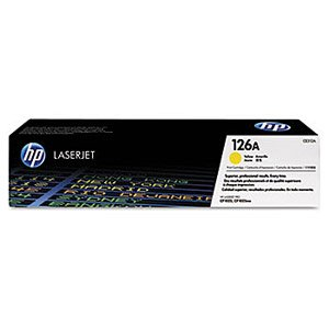 """CE312A (HP 126A) Toner Cartridge, 1000 Page Yield, Yellow"""