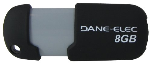 Dane-Elec 8 GB USB 2.0 Flash Drive DA-ZMP-08G-CA-N4-R (Black)